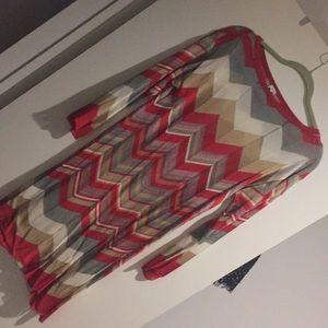 M Missoni signature print knitted dress